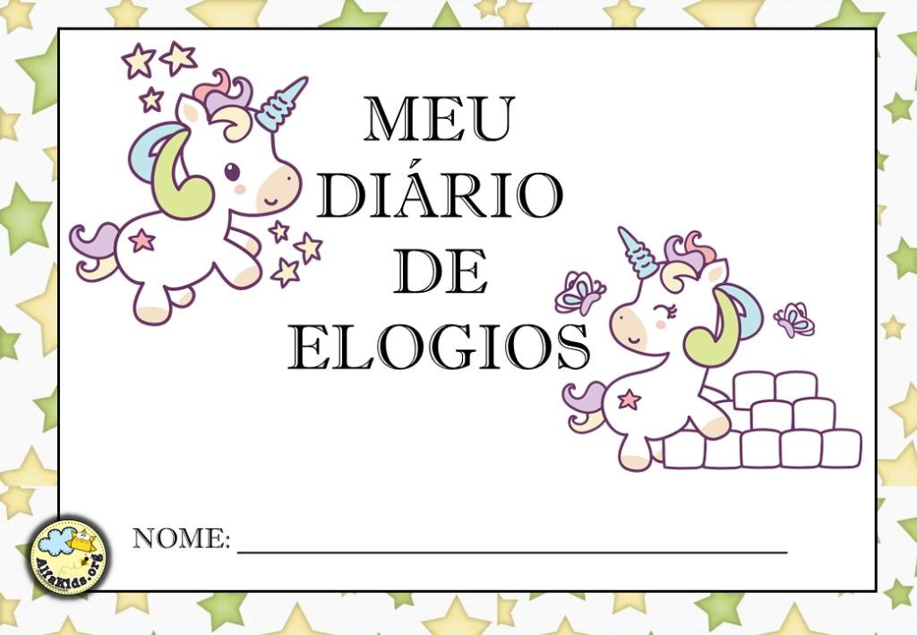 Alfabetização: Modelos para Caderno de Elogios - Alfakids.org