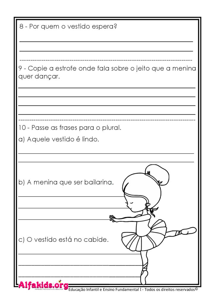 Atividades de Língua Portuguesa: Poema e interpretação (para 3º ou 4º Ano) - Alfakids.org