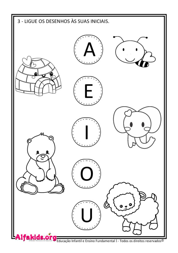 Alfabetização 1º Ano: Poema das vogais e atividades relacionadas - Alfakids.org