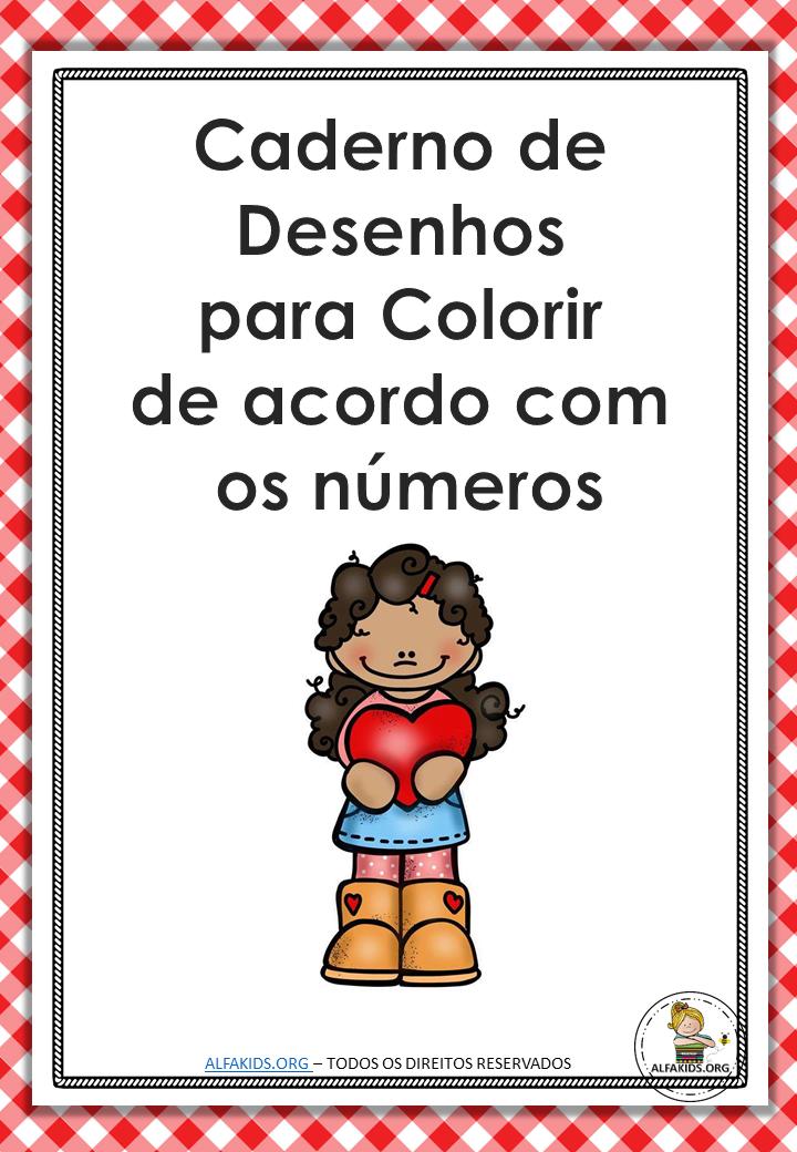 Caderno Com Desenhos Para Colorir De Acordo Com Numeros